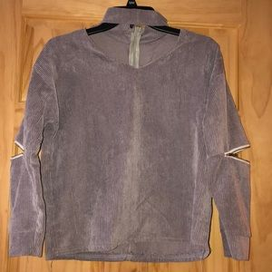 Once Worn Zipper Detail Cut Out Sweater. Size S